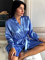 Домашняя одежда,халат женский атласный