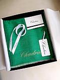 Легендарный кашемировый шарф Chadrin зеленый/бежевый, фото 3