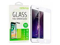 Защитное стекло 5D для iPhone 7 plus/8 plus, white