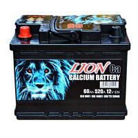 Аккумулятор автомобильный Lion 60А (+/-) (520EN) Плюс слева