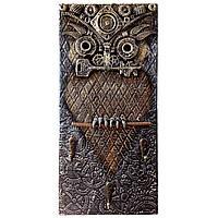 Настенная ключница Сова в стиле стимпанк Ручная работа Подарок для дома
