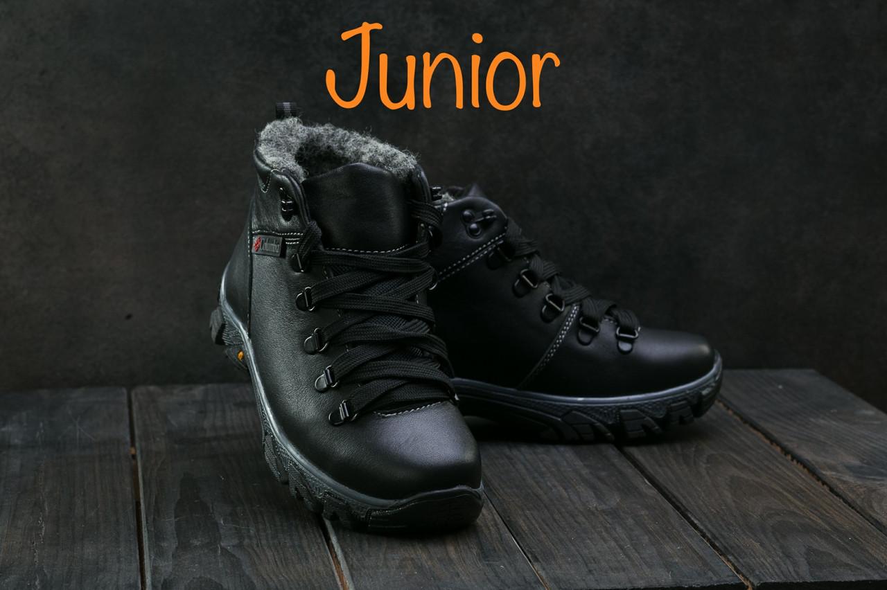 70b0ef1b8cfd Подростковые кожаные ботинки Columbia Черные К2W-T1 cher  продажа ...