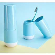 Travel чашка для зубной пасты и щетки Westwood. Venice blue