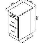 Кухонная секция Импульс Н 40-3Ш