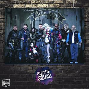 Постер Отряд Самоубийц, Suicide Squad. Размер 60x48см (A2). Глянцевая бумага