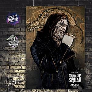 Постер Убийца Крок, Killer Croc, Отряд Самоубийц, Suicide Squad. Размер 60x41см (A2). Глянцевая бумага
