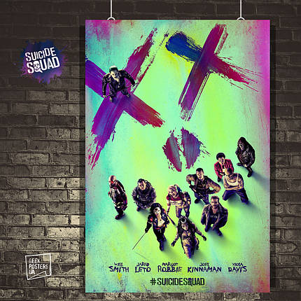 Постер Отряд Самоубийц, Suicide Squad. Размер 60x40см (A2). Глянцевая бумага, фото 2