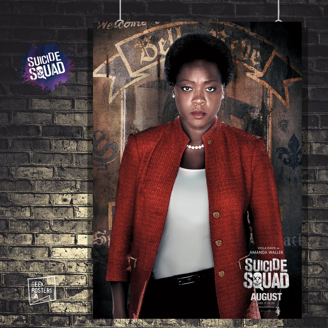 Постер Аманда Уоллер, Отряд Самоубийц, Suicide Squad. Размер 60x41см (A2). Глянцевая бумага