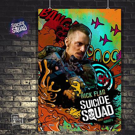 Постер Рик Флаг, Rick Flag, Отряд Самоубийц, Suicide Squad. Размер 60x40см (A2). Глянцевая бумага, фото 2
