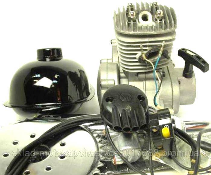 Мотор дирчик (веломотор) в зборі з ручним стартером 80 сс