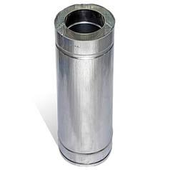 Труба дымоходная сэндвич 0.5 м х 100 мм х 160 мм нерж/цинк (0.5мм/0.5 мм) утепленная двустенная
