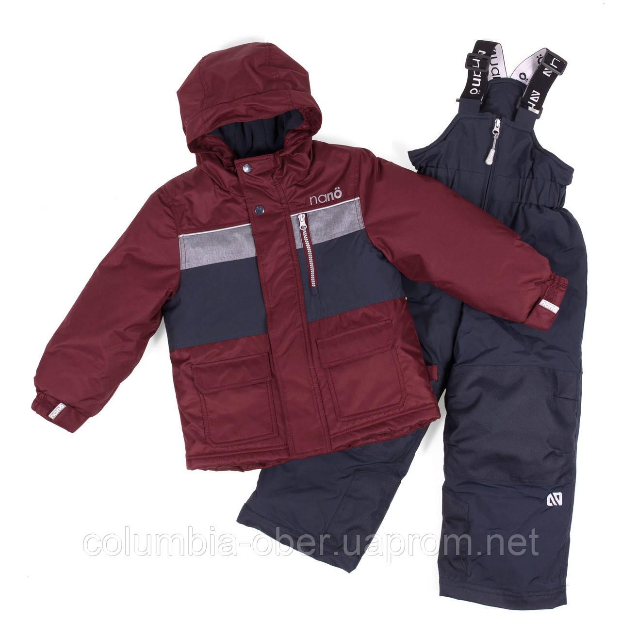 Зимний комплект для мальчика NANO F18 M 273 Red Leaf. Размеры 2-12.