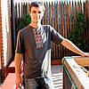 Мужская футболка-вишиванка графит | Чоловіча футболка-вишиванка графіт