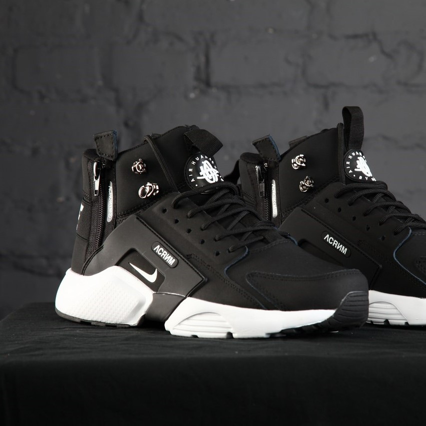 Nike Huarache Winter Acronym Winter 2017 Black White (реплика)