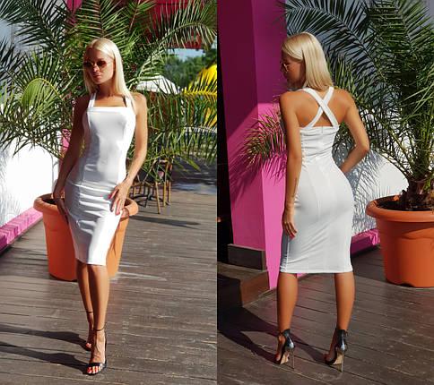 """Облегающее летнее платье-миди """"Силуэт"""" на бретельках (2 цвета), фото 2"""