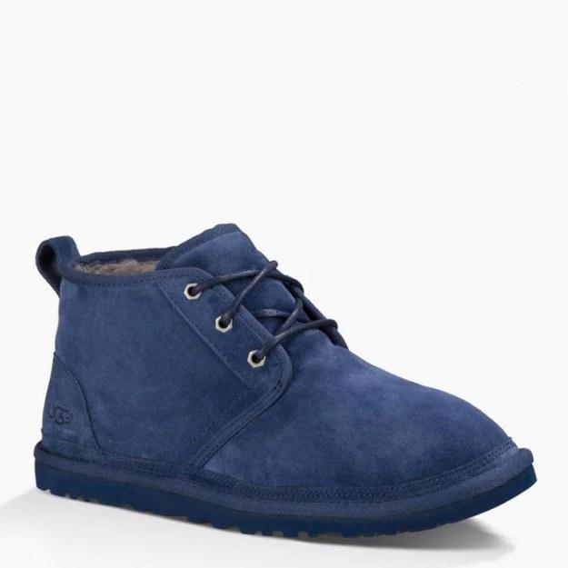 """UGG Neumel """"New Navy"""". Стильные ботинки UGG Neumel. Качественная обувь. Кожаные мужские ботинки."""