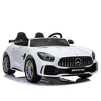 Двухместный детский электромобиль X5518 Mersedec, 4 мотора, кожа, белый