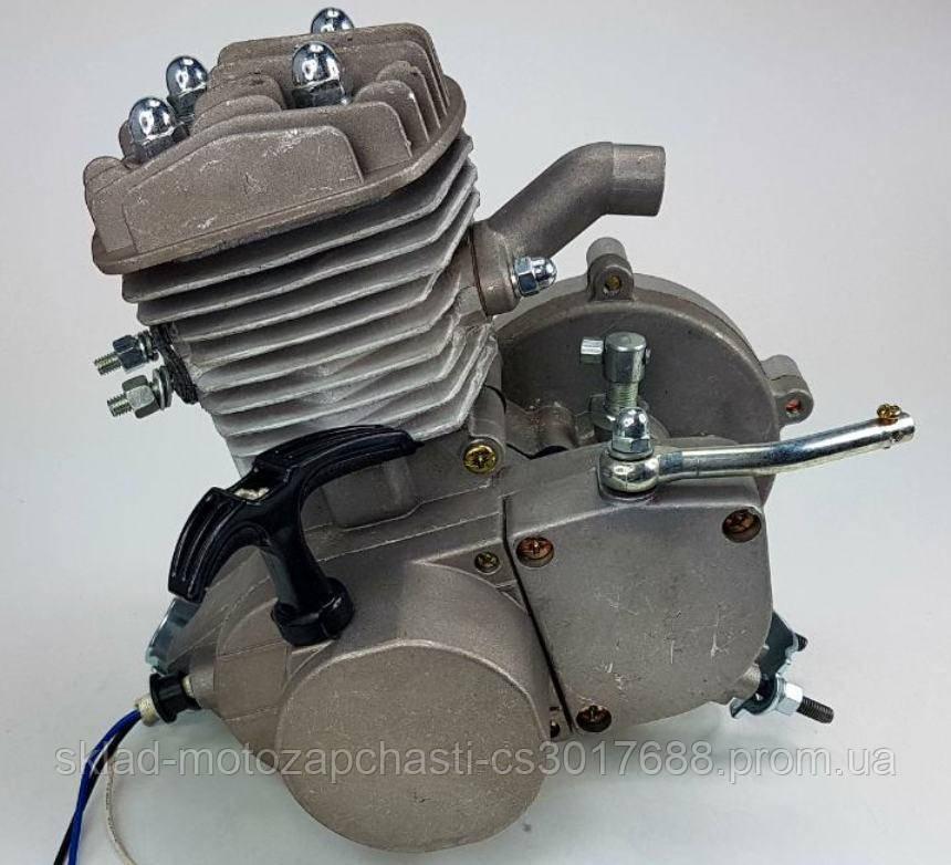 Веломотор/ мотор для велосипеда 80куб со стартером без комплекта НОВЫЙ