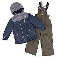 Зимний комплект для мальчика NANO F18 M 277 Blue Mix / Green Tea. Размеры 2-12., фото 1