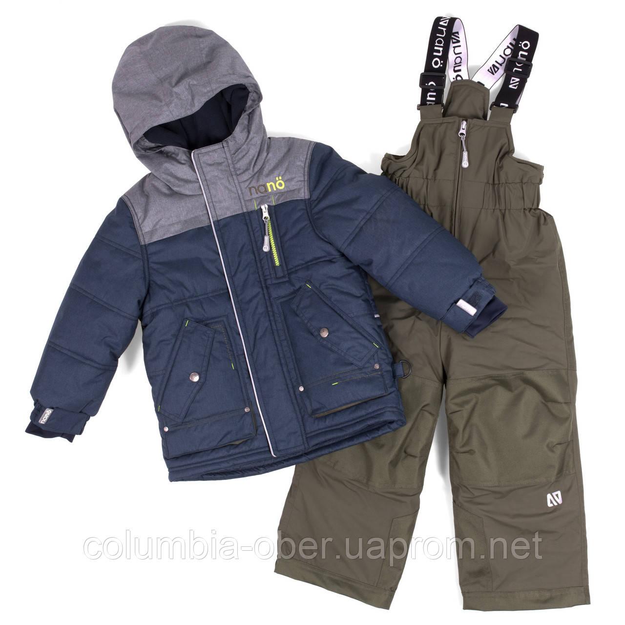 Зимний комплект для мальчика NANO F18 M 277 Blue Mix / Green Tea. Размеры 2-12.