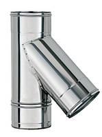 Трійник 45° для димоходу з нержавіючої сталі