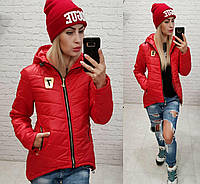 Куртка-парка утепленная ( арт. 210/7 ), цвет красный, фото 1