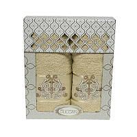 Набор полотенец Gulcan Cotton Venz Bej 50*90 см + 70*140 см