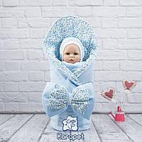 "Конверт одеяло на выписку ""Винтаж"" весна"