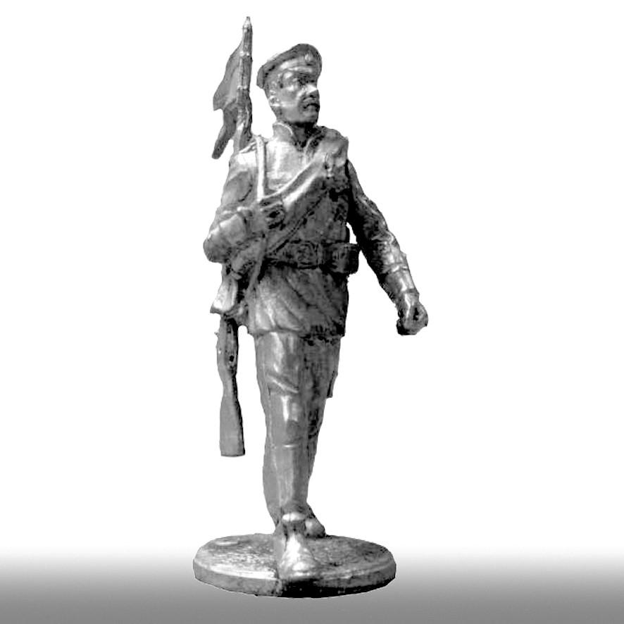 Пехотинец корниловского отряда, 1918 год