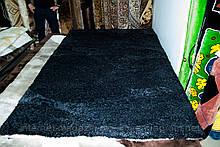 Килим з хутра графітового кольору, килим мокрий асфальт, темні килими купити