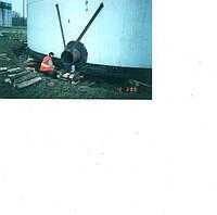 РВС-5000, подъем резервуара, исправление крена, устранение хлопунов
