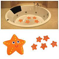 5 шт! Анти скользящие, противоскользящие наклейки звезды звездочки для ванной и плитки в ванной комнате