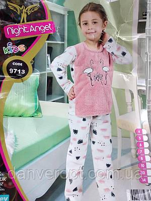 76d985588b1d Пижама детская модная с ярким принтом на девочку 4-7 лет, купить оптом со