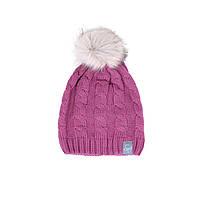Зимняя вязанная шапка для девочки 7-16 лет ТМ SNO (Канада) F18 TU 310AF розовая, фото 1