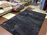 Ковер из меха графитового цвета, ковер мокрый асфальт, темные ковры купить, фото 2