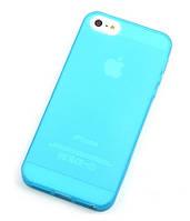 """Чехол """"Ультратонкий"""" для iPhone 5/5S, голубой (силиконовый)"""