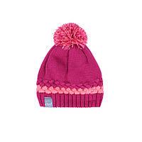 Зимняя вязанная шапка для девочки 7-16 лет ТМ SNO (Канада) F18 TU 322AF розовая, фото 1