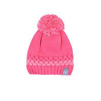Зимняя вязанная шапка для девочки 7-16 лет ТМ SNO (Канада) F18 TU 322AF коралл, фото 1