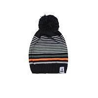 Зимняя вязанная шапка для мальчика 7-16 лет ТМ SNO (Канада) F18 TU 303AF черная, фото 1