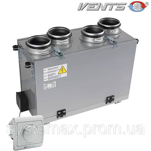 ВЕНТС ВУТ 200 В мини ЕС: приточно-вытяжная установка (вертикальная, ЕС-мотор)