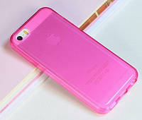 """Чехол """"Ультратонкий"""" для iPhone 5/5S, светло-розовый (силиконовый)"""