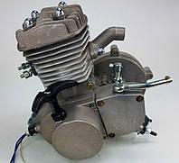Веломотор 80см3 со стартером без комплекта серый