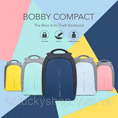 2a751ef07423 Оригинал Бобби Компакт в коробке, Рюкзак для ноутбука XD Design Bobby  Compact Anti-Theft