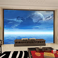 "3D фотообои ""Луна над водой"""