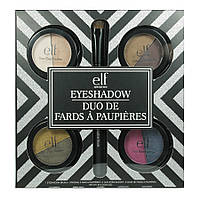 Набор теней для макияжа с кистью e.l.f. 4 Piece Duo Eyeshadow Set + Brush