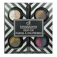Набор теней для макияжа с кистью e.l.f. 4 Piece Duo Eyeshadow Set + Brush, фото 1