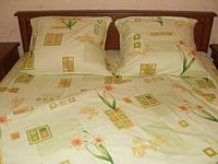 """Комплект постельного белья""""Нарциссы"""",миткаль,семейный"""