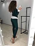 Женский стильный костюм: свитшот с имитацией рубашки и брюки (3 цвета), фото 4