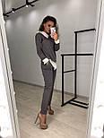 Женский стильный костюм: свитшот с имитацией рубашки и брюки (3 цвета), фото 7