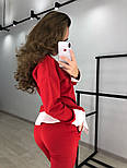 Женский стильный костюм: свитшот с имитацией рубашки и брюки (3 цвета), фото 8